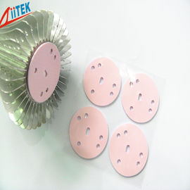 China pink Silicone High Insulating Heat Sink Thermal Conductive Pads with Adhesive Coating 1.5 W/mK supplier