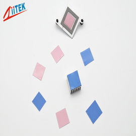 China Pink Low Resistance Thermal phase chaging materials Interface Pad  For Computer Serves 0.95 W/MK supplier