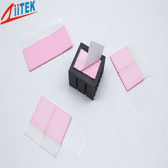 China pink 3.0W/mK CPU Heatsink Cutting Thermal Conductive Foam Ultrasoft Compressible 7.5 MHz Dielectric Constant supplier