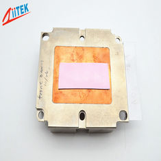 China 5W/mK ,silicone rubber sheet FOR LED panellight Heatsink Thermal Conductive Pad   pink TIF100-50-14S ,45 Shore 00 supplier