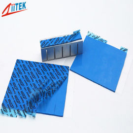 China ultra soft Thermal Conductive pad For LED lighting 4 W/M-K blue thermal silicone gap filler  TIF100-40-12U supplier