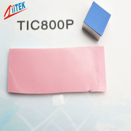China LED lighting Thermal phase changing materials Interface Pad Pink Low Resistance 0.95 W/MK distributor