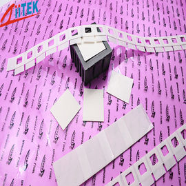 China Silicone Elastomer 50 Shore A White Thermal Adhesive Tape for LED Fluorescent Lamp 0.8 W/mK distributor