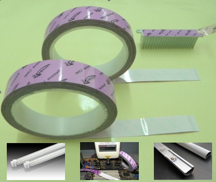 LED Heat Sink High Adhesive Tape , Thermal Adhesive Aluminum Foil Tape RoHs