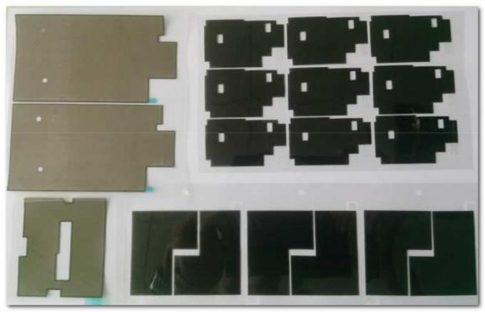 Black High Thermally Conductive Mobile Phone Graphite Gasket Material with 715psi Tensile Strength