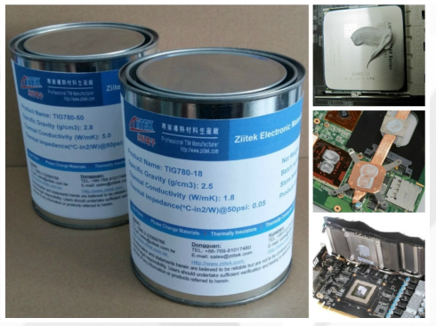 High Efficiency Environmental GREY Thermal Conductive Grease For Semiconductor Cases 5.6 W/mK
