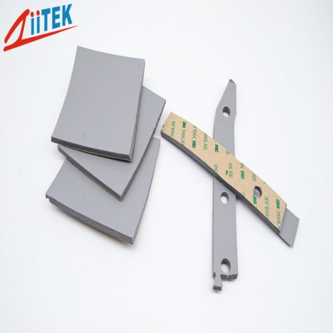 High Temperature 200℃  Silicone Foam Gasket Z-Foam8240 6mmT materials For Sealing Charging Pile