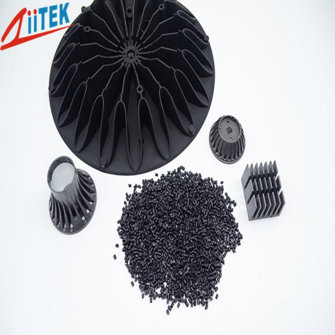 Black thermal conductivity 2.5 W/m-K nylon heat sinks  1.65g/cm3 Normal Engineering thermal conductive Plastic 150℃ 94V0
