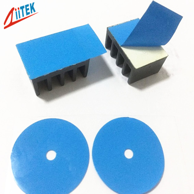 0.304mm Thickness IGBT Heatsink Blue Thermal Adhesive Tape with Glass Fiber Backing Acrylic