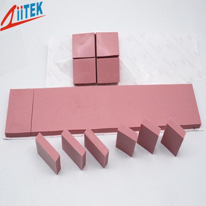 UL Recognized 45 Shore 00 Thermal Conductive Pad  Pink Silicone Sheet 2.5W/mK For High Speed Mass Storage Drives