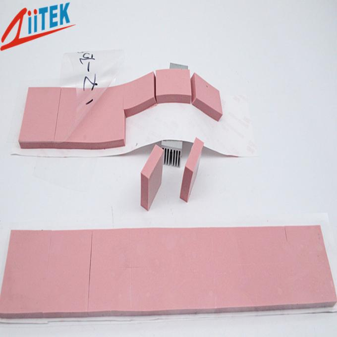 Pink high conductivity 3.0 W/mK thermal conductive pad 25shore 00 soft silicone gap filler for LED ceiling light